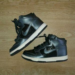 Nike Dunk high metallic/glitter sneakers sz 9